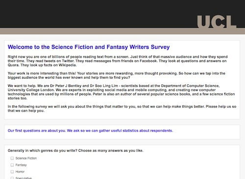 science fiction survey
