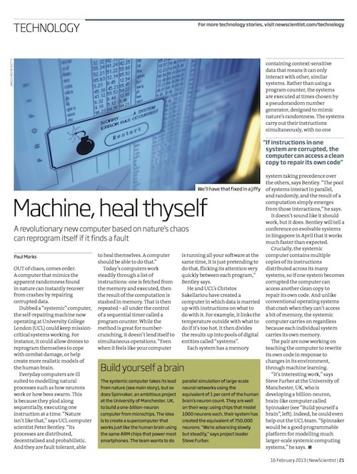 New Scientist systemic computer article